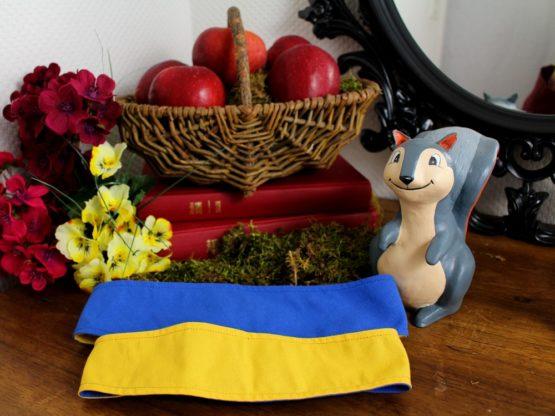 Bandeau réversible Blanche-Neige bleu et jaune enfant