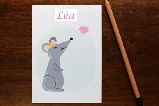 Carte personnalisable reine des souris
