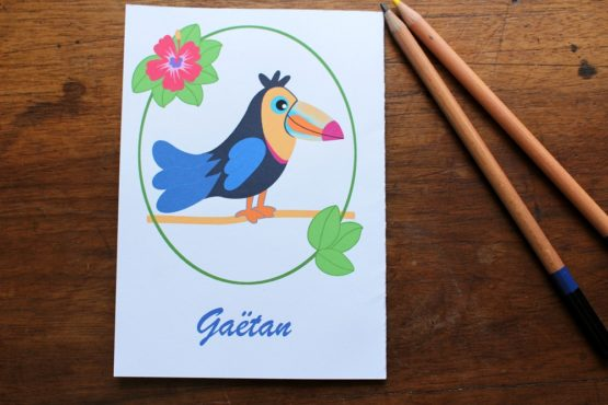 Carte personnalisable toucan