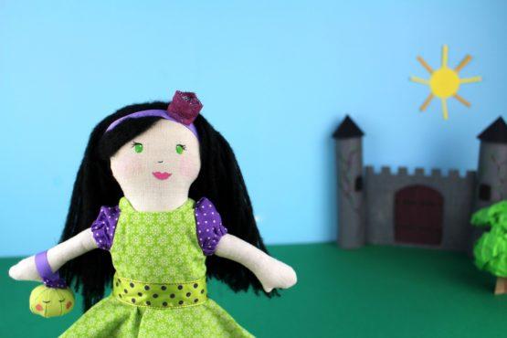 Poupée princesse au petit pois