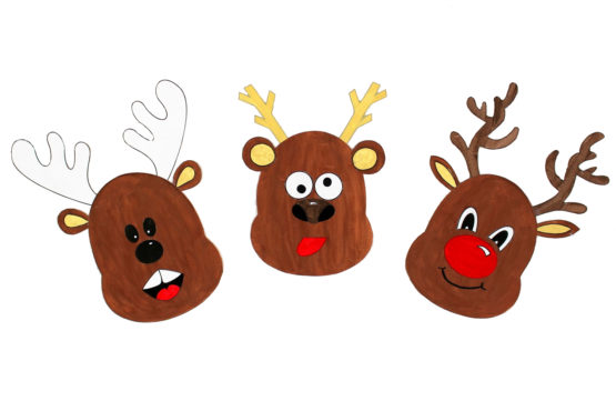 Portraits de rennes de Noël à imprimer