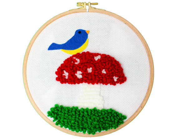 Atelier punch needle oiseau
