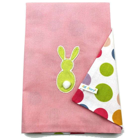 Serviette de table lapin rose