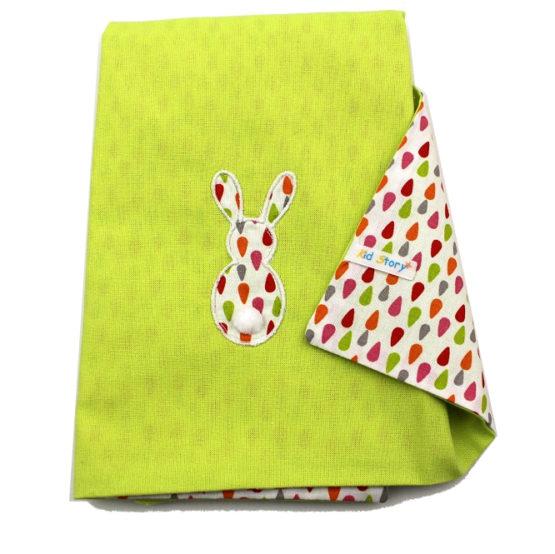 Serviette de table lapin vert