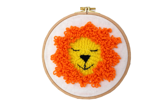 Atelier punch needle lion