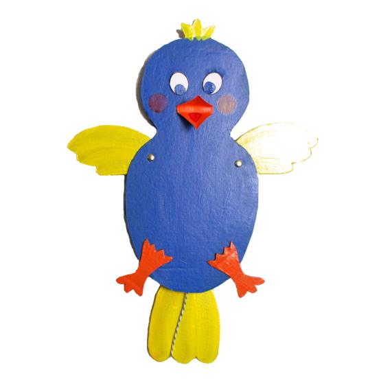 Atelier pantin articulé oiseau